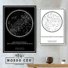 Mapa das estrelas - Presente Criativo